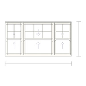 Sash windows balance elegance 50/63 A