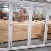 Fully finished bi-foldng doors timber
