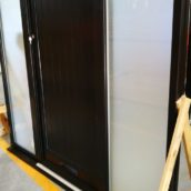 black main doors